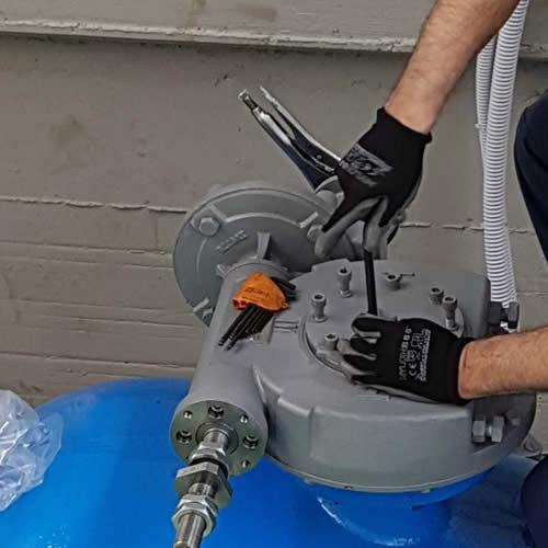 Installazione, taratura e manutenzione attuatori elettrici e pneumatici per valvole e saracinesche
