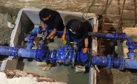 AQP – Trinitapoli (BT) – Avviamento e regolazione valvola riduttrice e stabilizzatrice di pressione