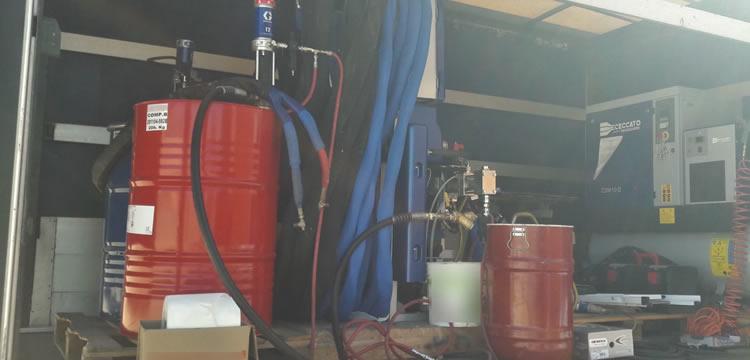 strumentazione impermeabilizzazione e protezione con poliurea
